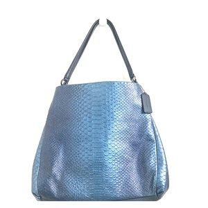 Coach Phoebe Blue Metallic Snake Leather Purse
